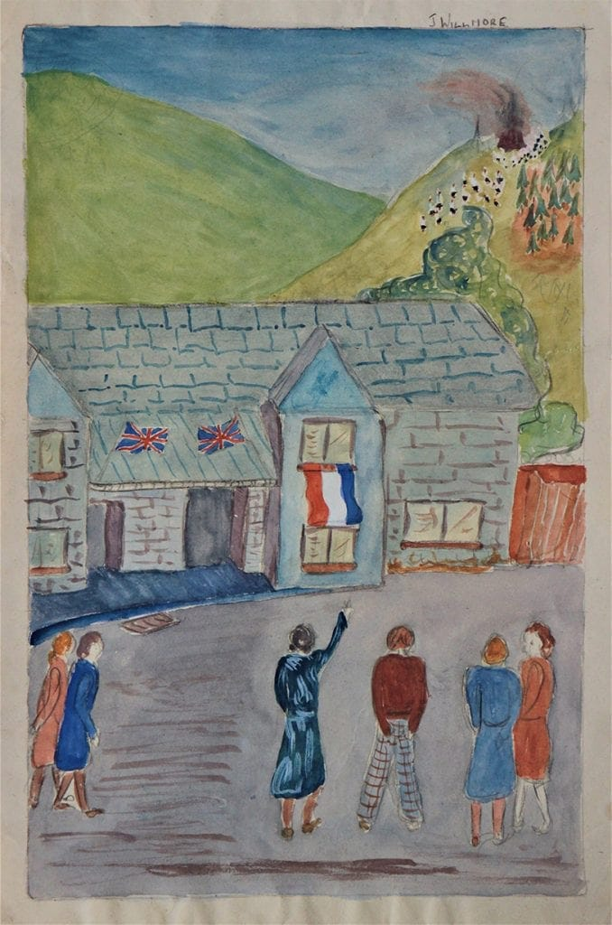 Judith Willmore's painting of the VE Day celebrations in Keswick