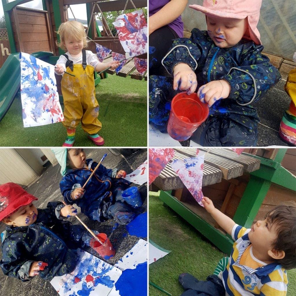 Little Monkeys day nursery celebrate VE Day