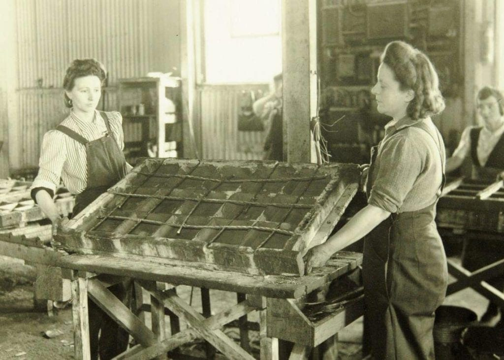 Women helped in the construction of The Mulberry harbour