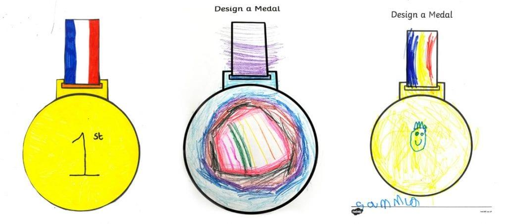 VE Day 75 medal designs by pupils of Braithwaite School