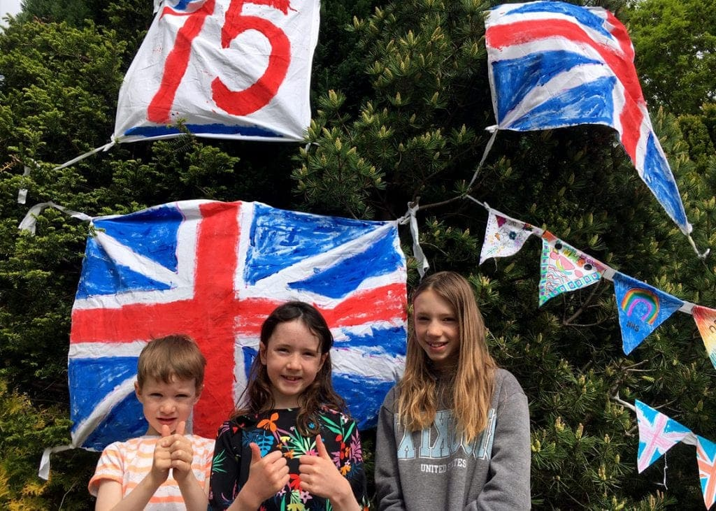 The pupils made flags and bunting to decorate their homes on VE Day 75