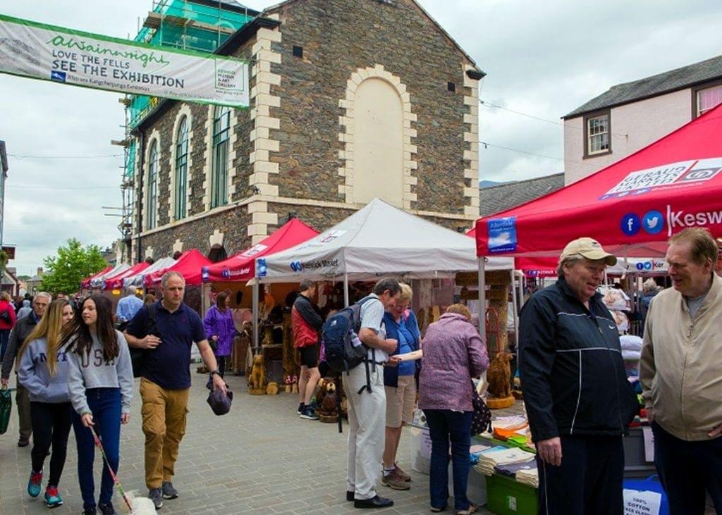 Keswick Market - back in pre-coronavirus era