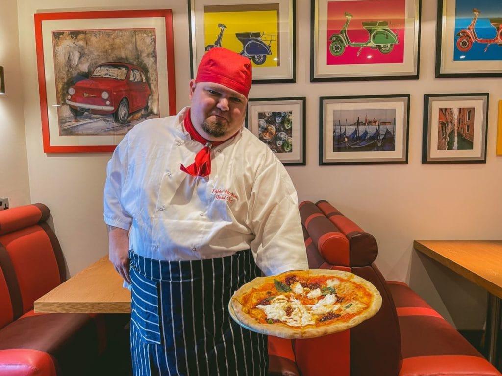 LB's Pizza house head chef Fabio Ricchieri