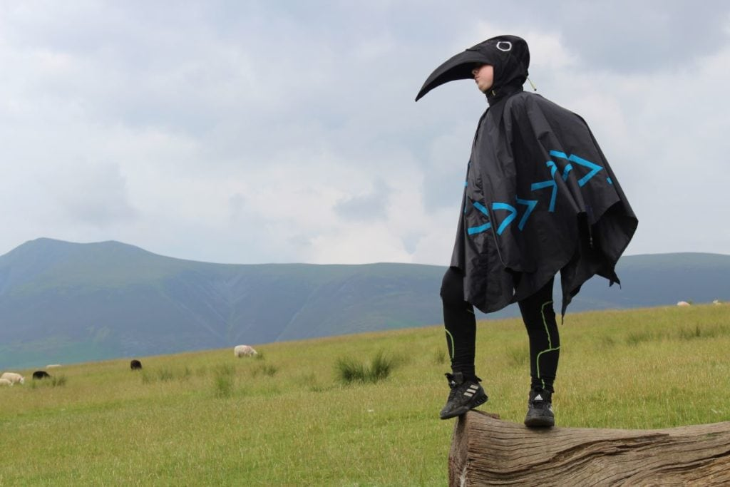 Boy dressed as crow at Crow Park